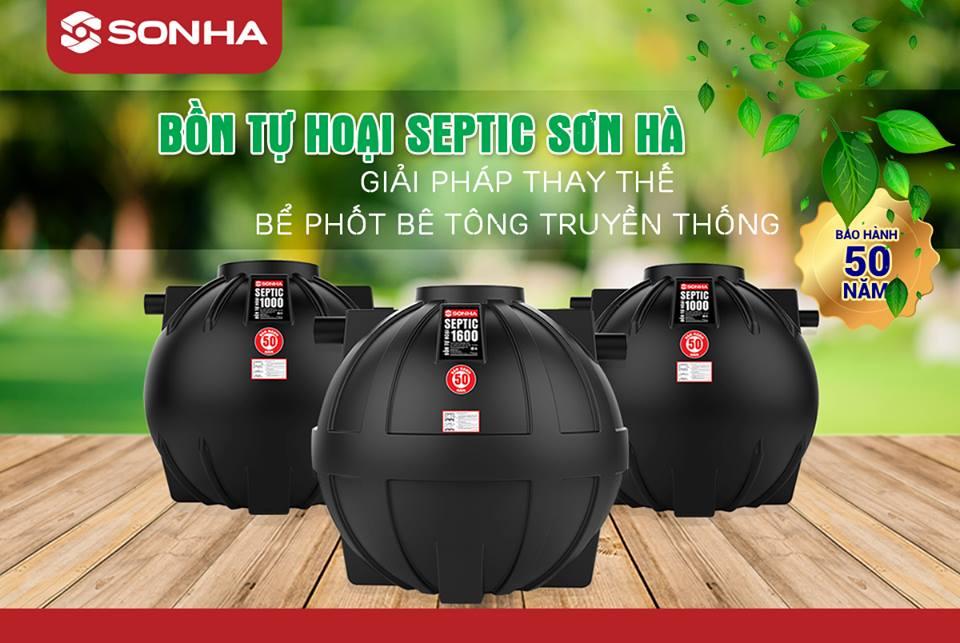 Bồn tự hoại Sơn Hà SEPTIC